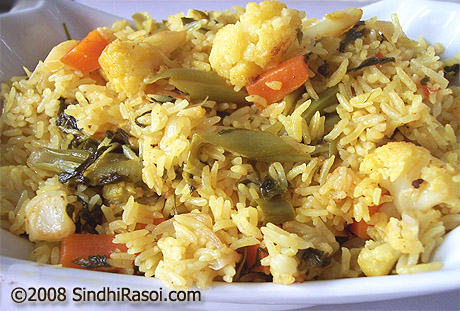 Methi-vegetable pulao
