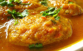 Sindhi Tikki Curry or Gattey ki kadhi