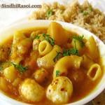 Macroni Potato Lotus seeds curry