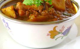 TVP_potato_mushroom_paneer curry