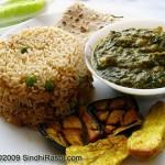 Saibhaji or Spinach, a signature Sindhi Dish