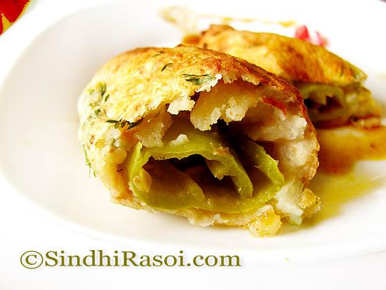 Stuffed and baked pakora |bhajjis