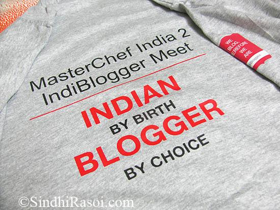 Indiblogger masterchef India tee shirt