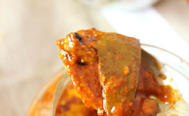 Mango pickle in mustard oil