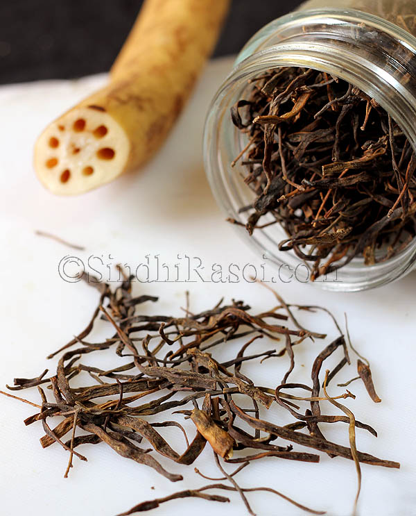 dried drumsticks with lotus stem