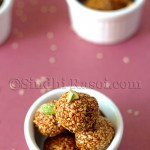 honey and sesame seeds balls, til kay laddu