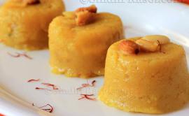 Rava kesari or semolina pudding