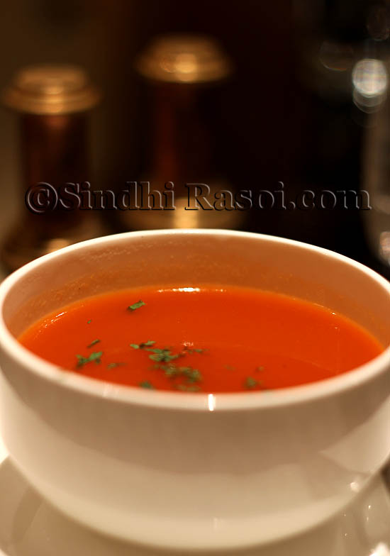 Tamatar Dhaniya Shorba at Zaffran
