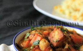 Sindhi no onion no garlic curry